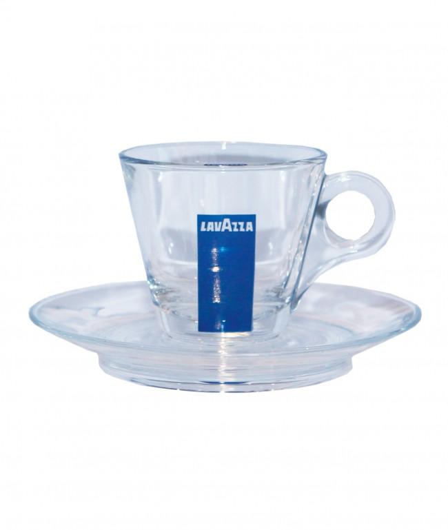 lavazza espresso tassen aus glas blue collection zubeh r. Black Bedroom Furniture Sets. Home Design Ideas